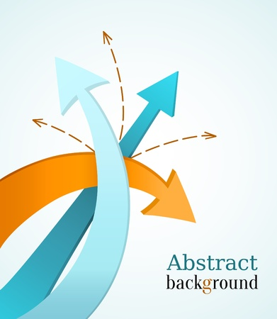 Business background with color arrows  Vector
