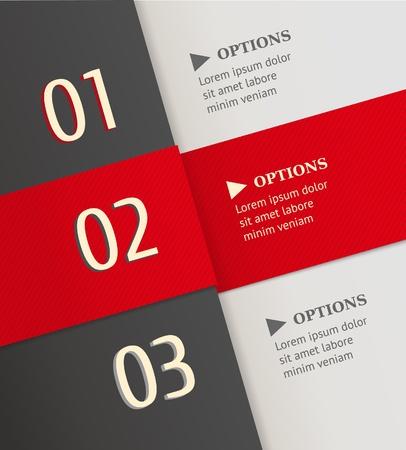 Modern brochure ontwerp sjabloon met aantallen lagen van kleur papier met de uitgesneden nummers Retro style vector illustratie Stock Illustratie
