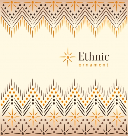 Beautiful vintage ethnic ornament background Stock Vector - 19937637