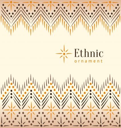 Mooie vintage etnische ornament achtergrond