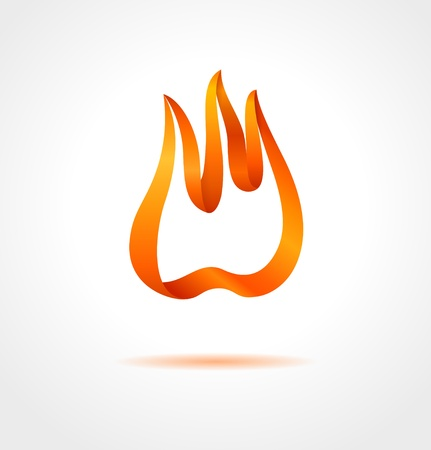 Abstract flame on gray background   creative symbol Stock Vector - 20278170