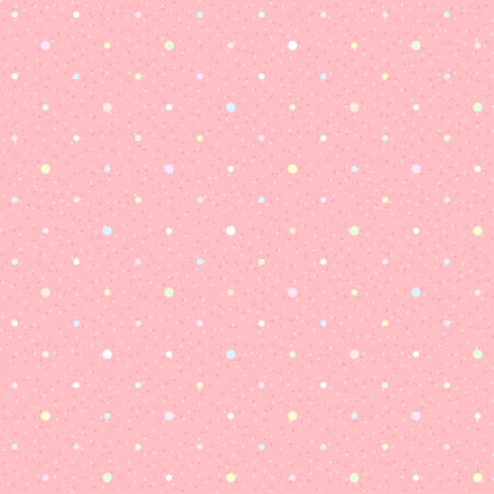 Pink seamless with color dots  Textured polka dots pattern Vector