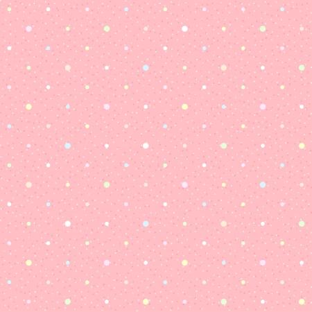 Roze naadloze met gekleurde stippen Geweven stippenpatroon