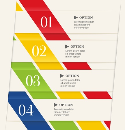 Business steps options banner  Modern origami style Vector