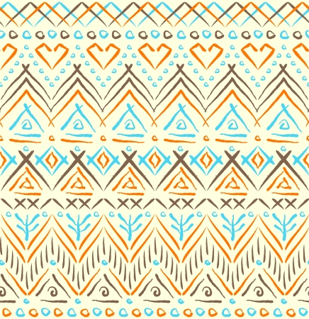 Tribal ethnic seamless pattern Stock Vector - 20450407
