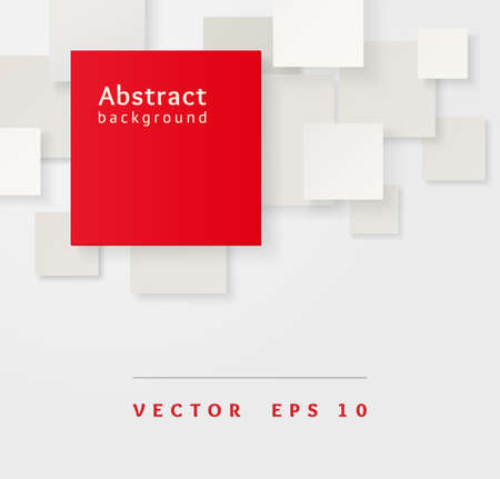 Red and gray overlapping squares  Business abstract Illustration Stock Vector - 20980623