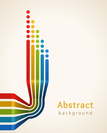 Colored stripes with circles,  Design template  向量圖像