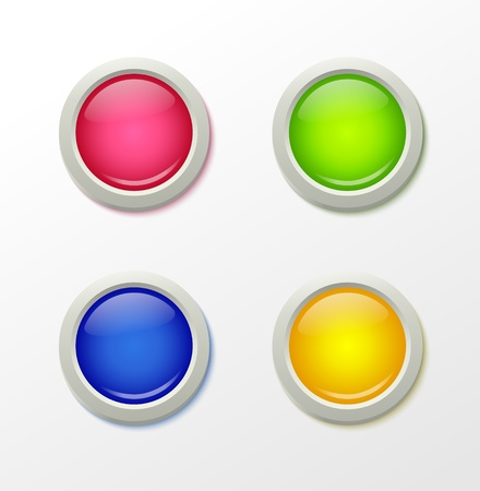 Shine colorful buttons template   illustration Vector