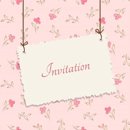 Vintage card design for greeting card, invitation, menu, cover    Flower background - seamless pattern Stock Vector - 21325314