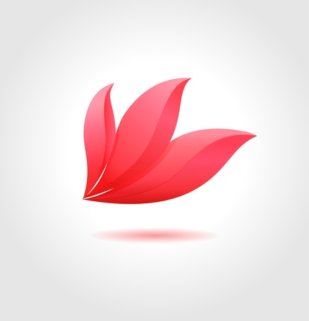 fragrances: Pink flower  Spa concept  Flower business abstract symbol