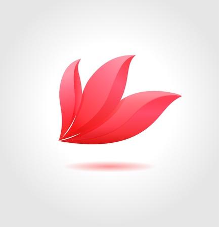 Pink flower Spa-Konzept Blumen-Geschäft abstrakte Symbol Standard-Bild - 21781943