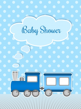 baby stickers: Baby shower for boy with sticker train