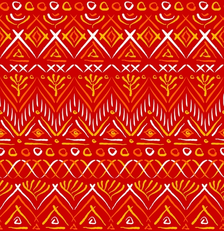 persia: Red tribal ethnic seamless pattern