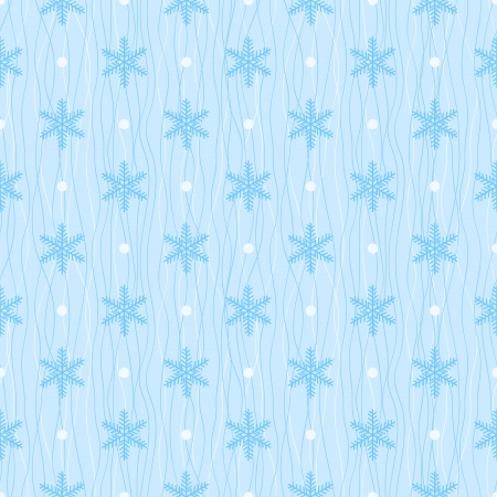 Winter seamless pattern  Blue snowflake and polka dot on wavy background Stock Vector - 22679926