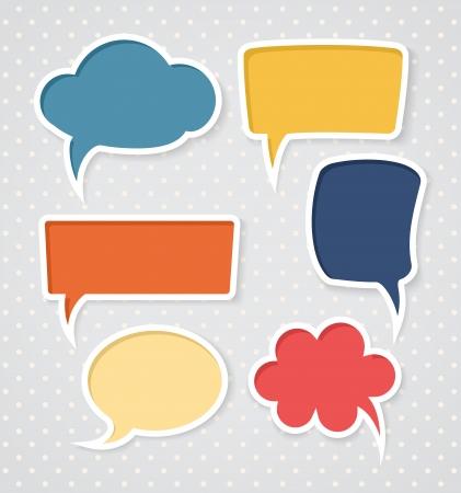 talking bubble: Set of colorful speech bubbles