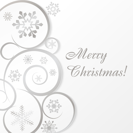 White christmas card or background Vector
