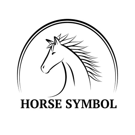 Horse symbol on white background  Vector illustration Vector