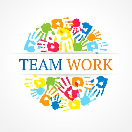Team work symbol  Vector creative concept