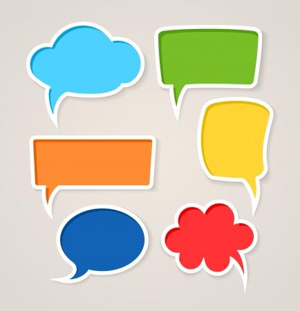 カラフルなスピーチの泡のセット