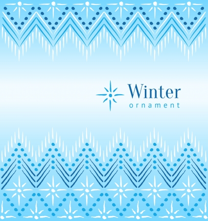 Beautiful vintage winter ethnic ornamental background Vector