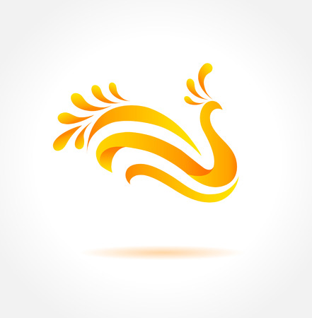 Orange bird  Creative symbol of happiness Stock Vector - 24509792