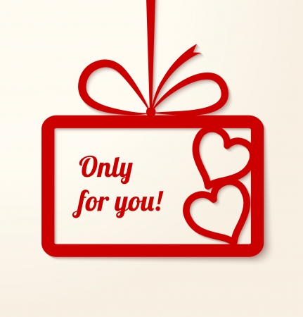 Valentine s applique card background  Frame with two hearts and place for your text  Vector