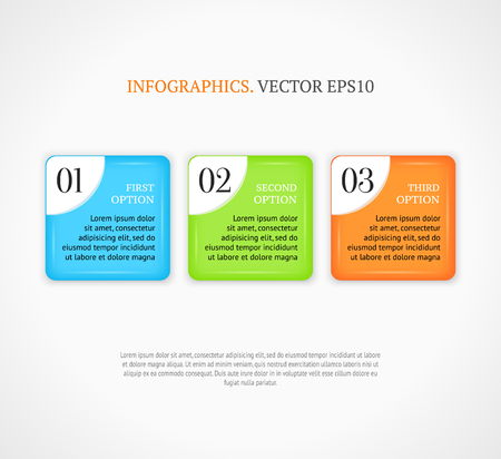 Numbered infographic options banners template