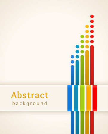 Colored stripes with circles Stock Illustratie