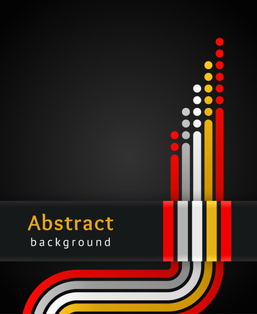 Colored stripes on black background Vector