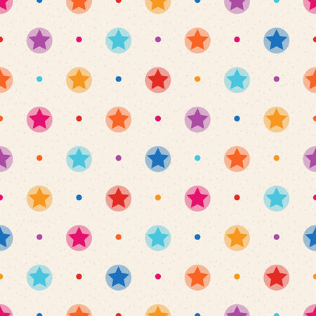 Color stars and dots on beige textured background Stock Vector - 26042433