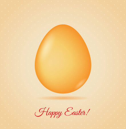 april beautiful: Glass egg  Easter greetings card  Illustration