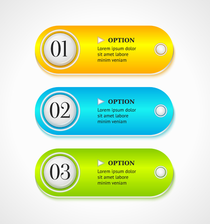 Shine horizontal colorful options banners or buttons template  Vector