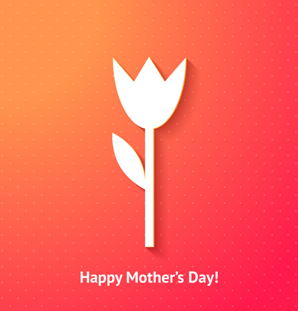 Happy mother's day card background with flower Vector