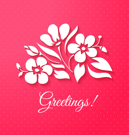 Applique card or background with flowers Stock Vector - 27497325