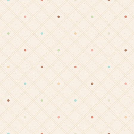 Checkered color seamless textured polka dots pattern