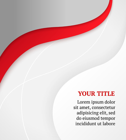 Red and gray business  Vector