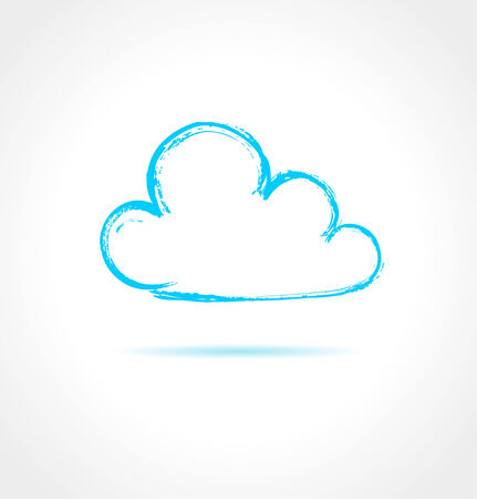 Abstract blue cloud on gray background. Vector