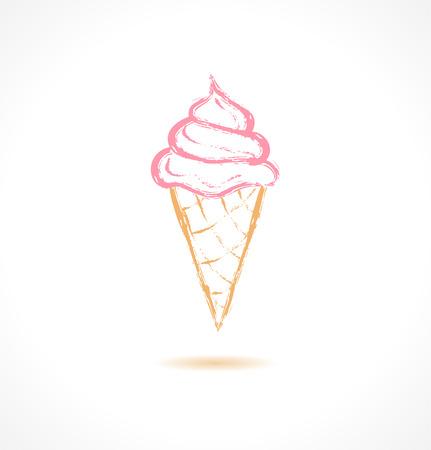 Ink Ice Cream icon. Vector illustration