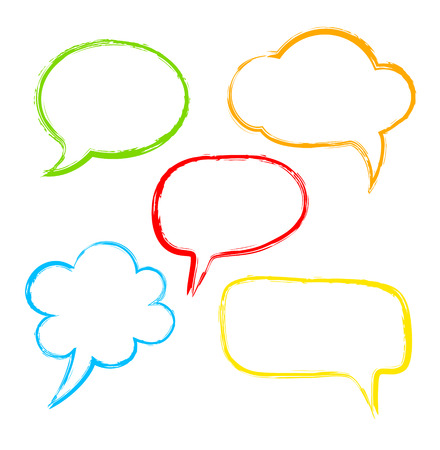 Colorful ink speech bubble Vector