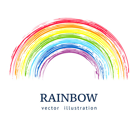 rainbow colours: Ink rainbow.  Abstract vector background
