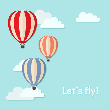 Vector background with air balloons Vector