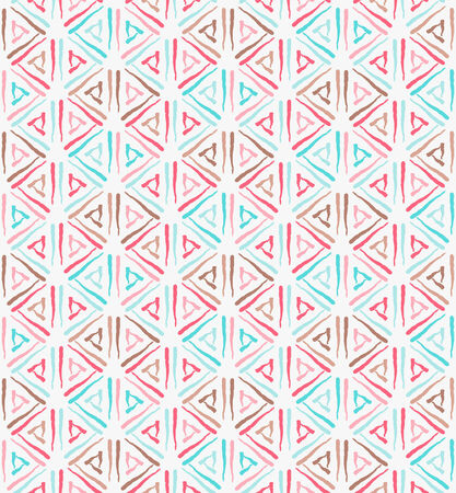 Triangle ethnic grunge  seamless pattern  Ink vector illustration Vector
