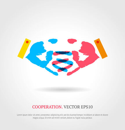 Creative cooperation symbol.  Vector