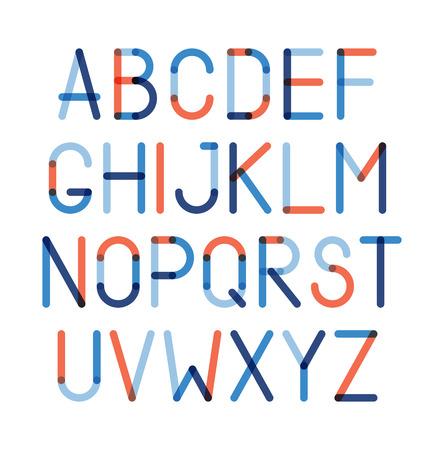 alphabet style: Color alphabet