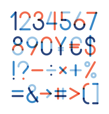 six point: Vector set - Numbers and other symbols Illustration