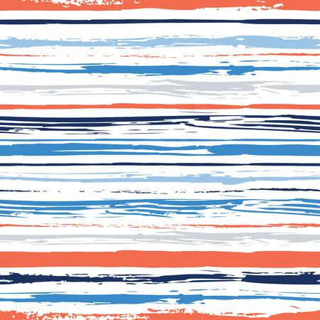 カラフルなストライプのシームレスなパターン。抽象的な背景に手描き下ろしのストライプ。水彩線のベクトルの背景。