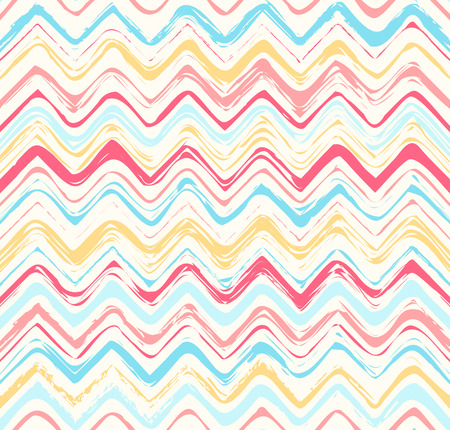 Colorful stripes seamless zigzag pattern  Abstract background with hand drawn stripes  Vector watercolor lines background  Vector