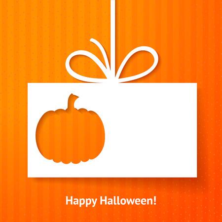 thanksgiving day symbol: Applique carta o di sfondo con la zucca Vettoriali