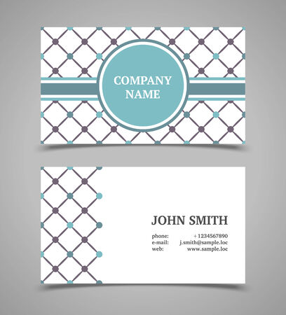 business fashion: Business card template. Modern retro style. Illustration