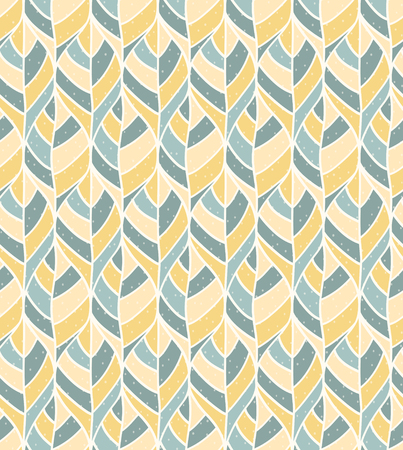 mustard: Abstract seamless leaves pattern.Vector illustration